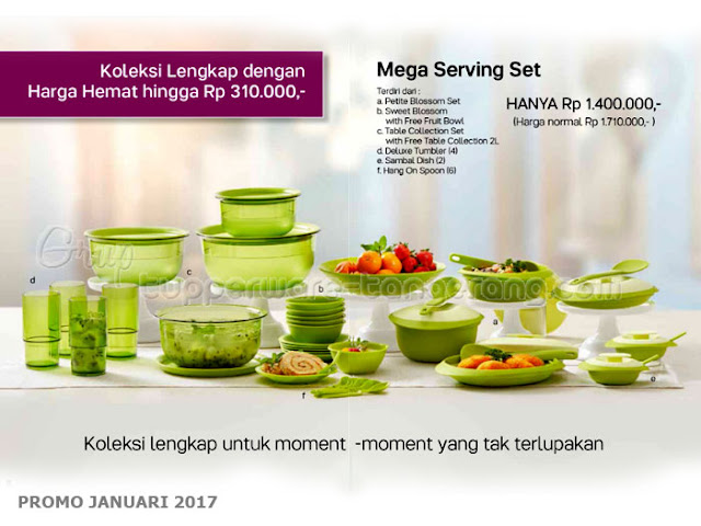 Mega Serving set Promo Tupperware Januari 2017