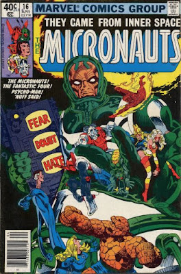 Micronauts #16, Psycho-Man and the Fantastic Four