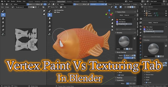 Which is better as a Texturing 3D Mesh in Blender : Vertex Colour VS Texture Tab