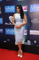 Actress Regina Candra Stills in Beautiful Sleeveless Blue Short Dress at SIIMA Short Film Awards 2017 .COM 0023.JPG