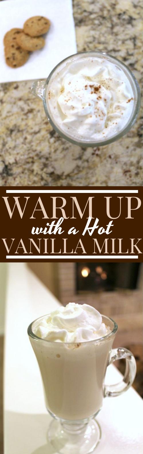 Hot Vanilla Milk #drinks #milk #hot #beverages #winter