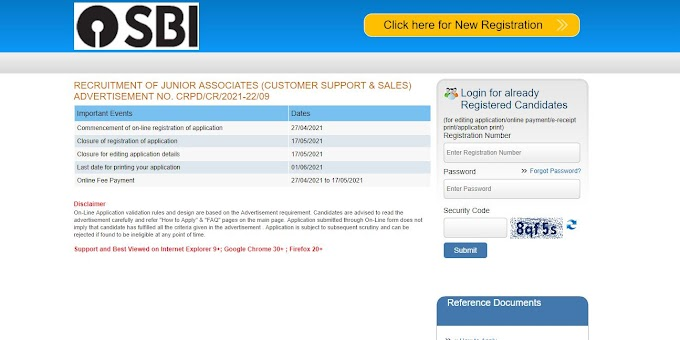 SBI Junior associates Clerk Recruitment 2021:- online application, fees, age, qualification,exam date, admit card and more information