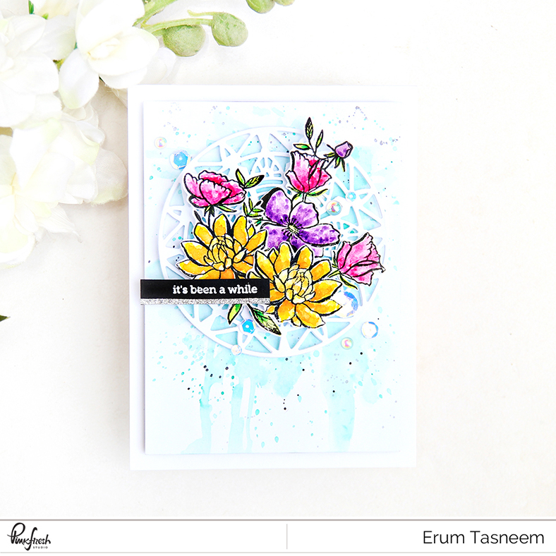 Pinkfresh Studio Floral Background and Modern Mandala Die | Erum Tasneem | @pr0digy0