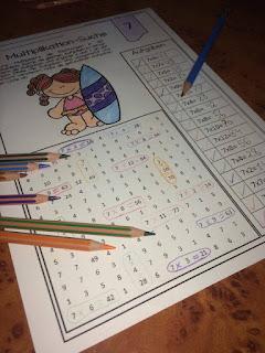 Ein Suchsel mit Einmaleins. Tolle Arbeitsblätter, Übungen und Spiele für die Grundschule.