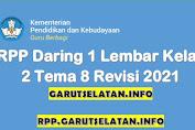 RPP Daring 1 Lembar SD/MI Kelas 2 Tema 8 Revisi 2021