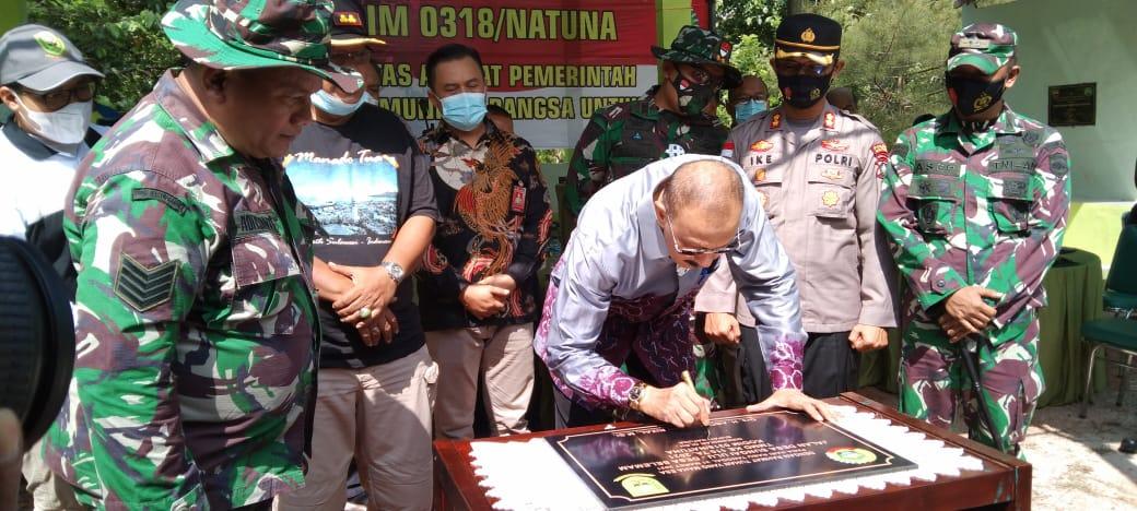 Bupati Natuna Menghadiri Acara Syukuran Yang Digelar Kodim 0318 /Natuna