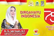 Ir. Hj. Sari Yuliati Mengucapkan Selamat DIRGAHAYU INDONESIA