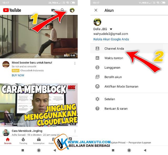 Berikut ini adalah Cara mengganti nama Channel Youtube Lewat Hanphone dengan mudah.