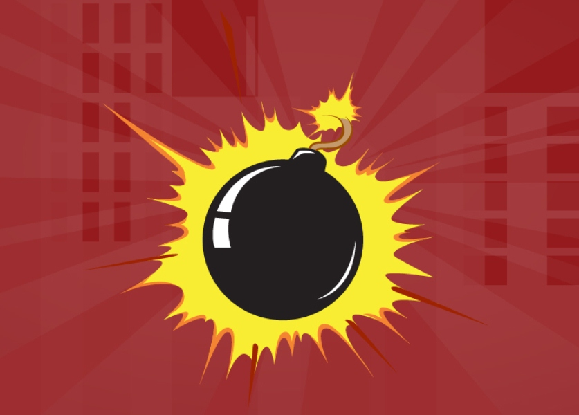 Ilustrasi bom.