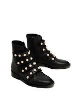 Bottines détails perles - Zara 79,95€