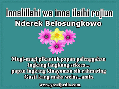 Kata Ucapan Belasungkawa Bahasa Jawa