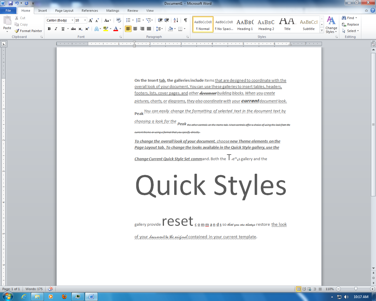 Assignment Of The Day Ms Office Text Formating