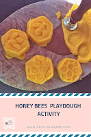 pin honeybees playdough activity