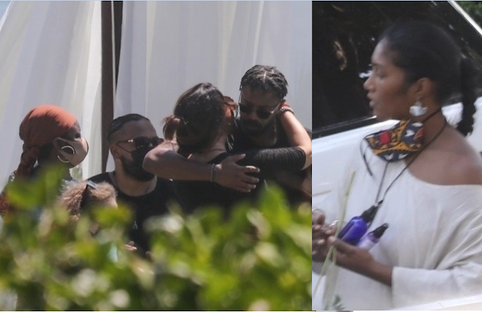 Michael B Jordan and Black Panther co-stars join Chadwick Boseman's wife and family for his memorial in Malibu
