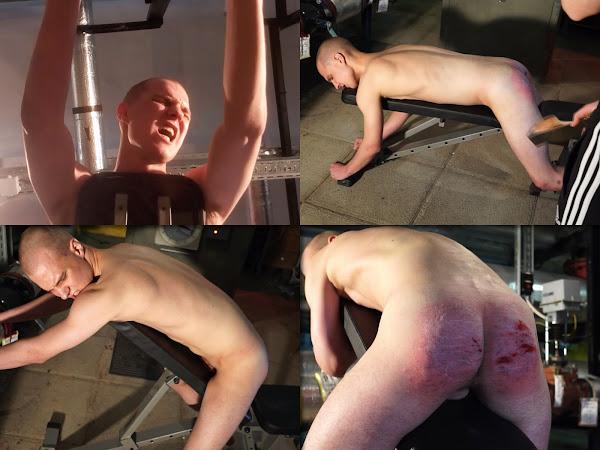 #RusStraightGuys - Apex of sadism – Hardest belt spanking for soldier Sanechek 19 y.o.