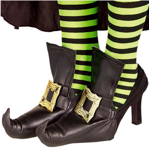 Zapatos para disfraz de bruja