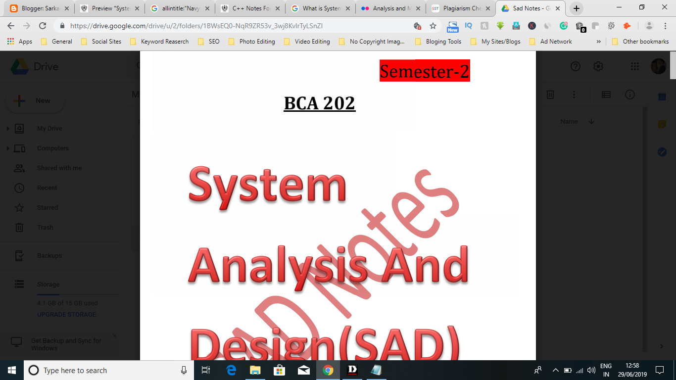Latest System Analysis And Design Notes Free Download Pdf
