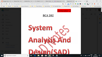 System Analysis and Design Notes