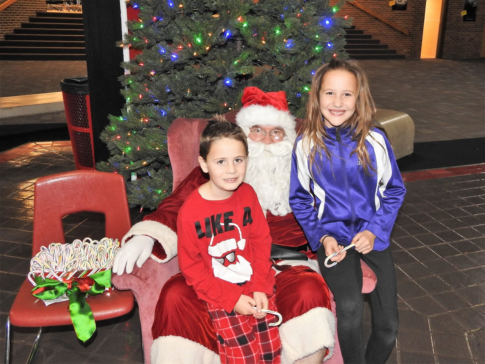 we stopped to visit with santa before heading into the auditorium