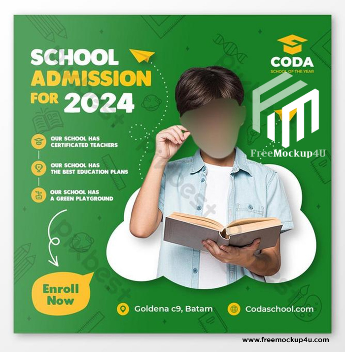 Back to School Social Media Post Banner And Square Flyer Templates PSD