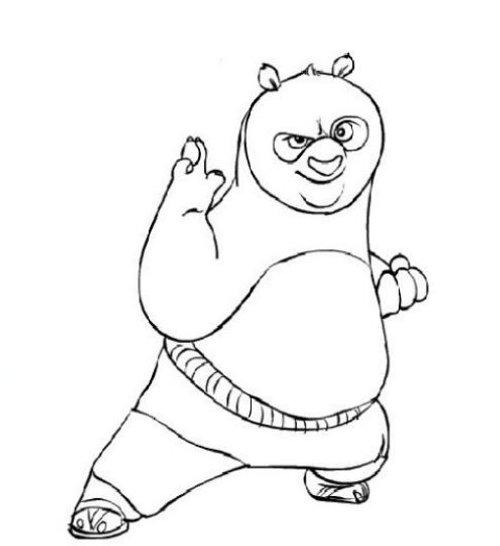 Blog MegaDiverso: Kung Fu Panda para pintar y descargar