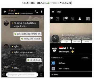 Download BBM MOD Black And White Apk v3.3.6.51 [BBM CHATME] Terbaru