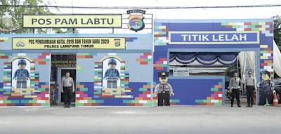 Pos Pengamanan Natal dan Tahun Baru 2020 yang Unik ada di Lampung Timur