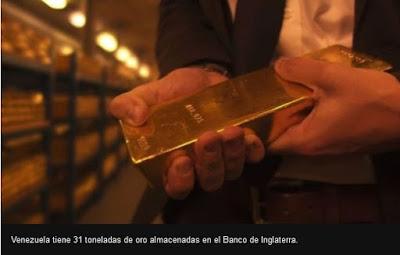 Ouro da Venezuela na Inglaterra
