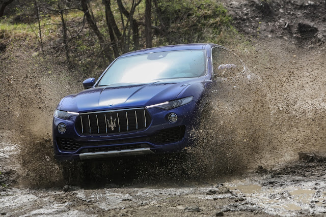 New Maserati Levante S off road drive