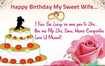 Happy Birthday wishes quotes for wife: happy birthday my sweet wife