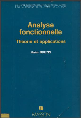 Livre : Analyse fonctionnelle, Théorie et application - Haïm Brezis