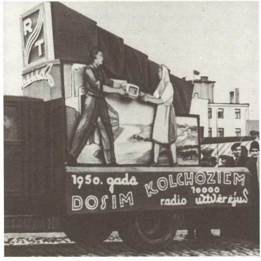 Из газеты: в 1950 году завод намерен дать колхозам 10000 радиоприёмников.