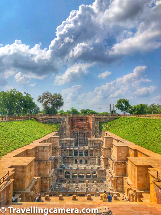 Rani ki vav of Patan is considered as the finest and one of the largest example of stepwell architecture in Gujarat. The architecture and sculptures is similar to the Vimalavasahi temple on Mount Abu and Sun temple at Modhera.      It is worth to hire a guide to know. You can negotiate with guide to pay 200-400 rupees for one hour. You will have to walk for almost one kilometer inside.