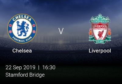 LIVE MATCH: Chelsea Vs Liverpool Premier League 22/09/2019