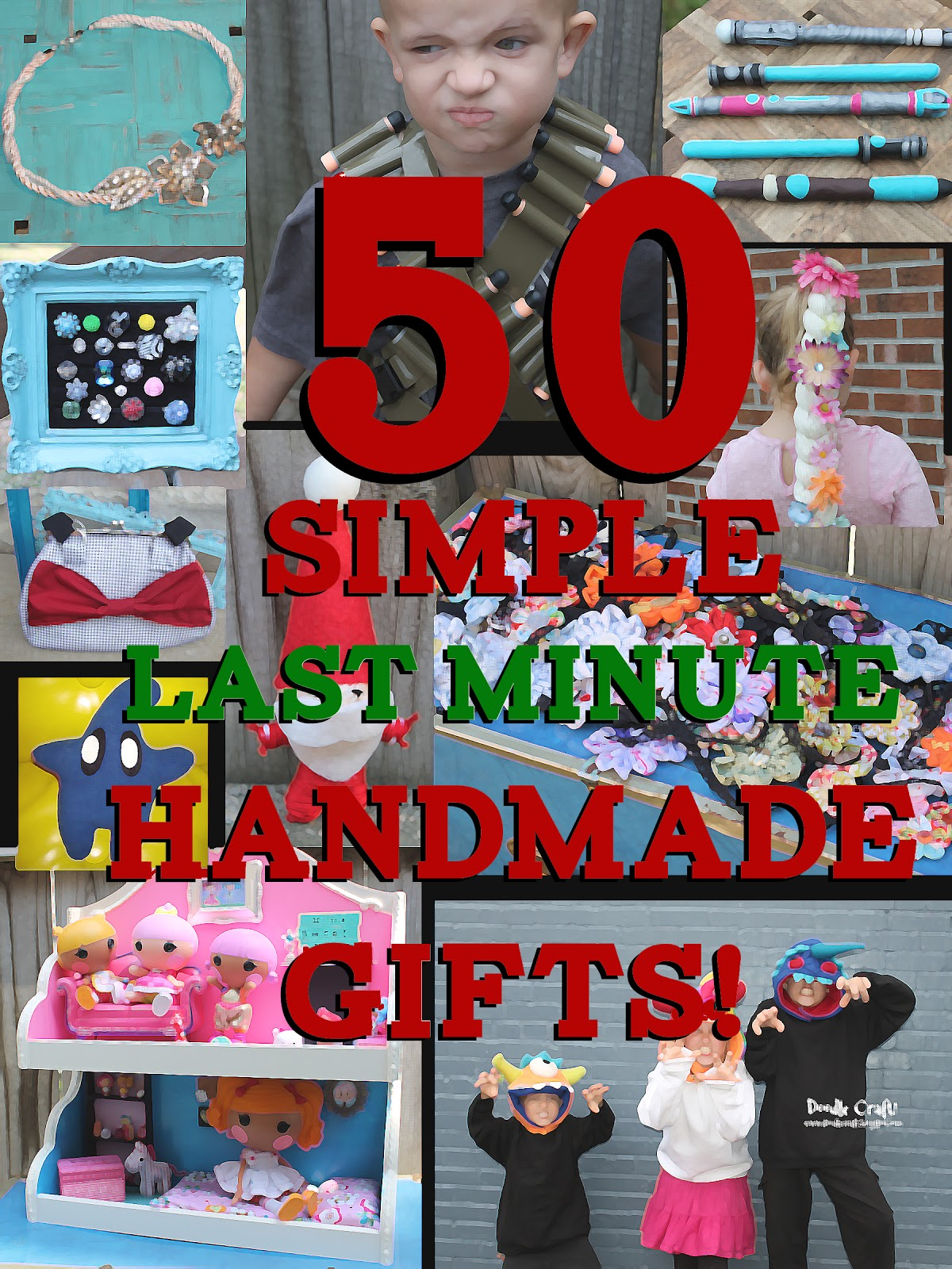 Simple And Cheap Living Room Decoration: Doodlecraft: 50 Simple Last Minute Handmade Christmas Gifts