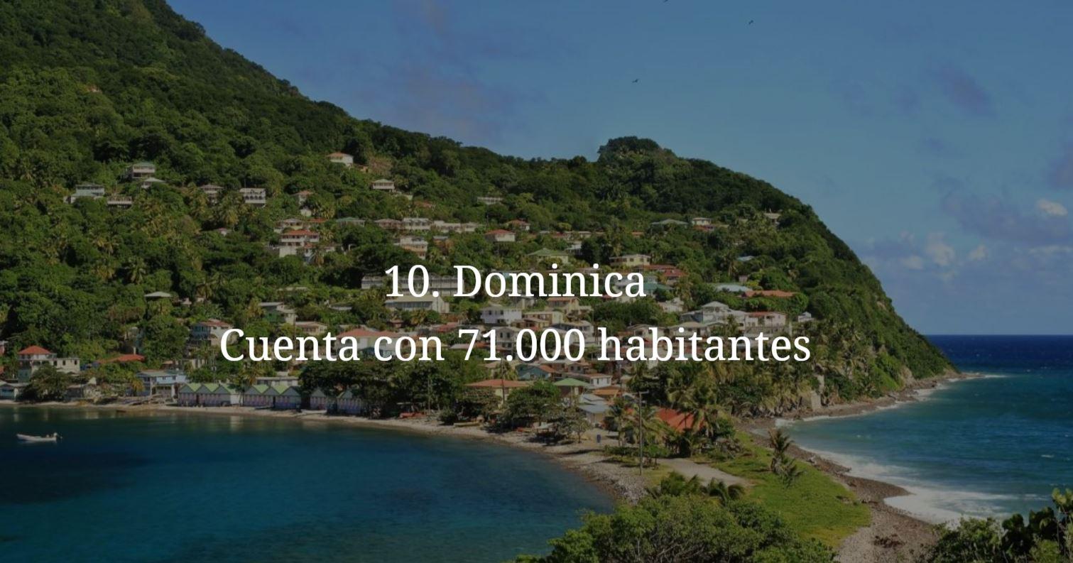 Dominica, paises mas pequeños y menos habitados del mundo