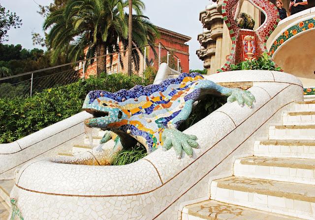 park guell lizard mosaic