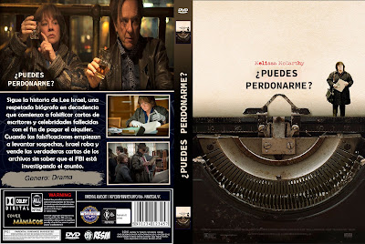 CARATULA ¿PODRAS PERDONARME ALGUN DIA? - ¿PUEDES PERDONARME? - CAN YOU EVER FORGIVE ME - 2018 [COVER DVD]