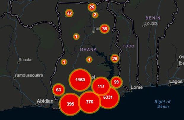 Ghana's Covid-19 Cases Hit 7,616