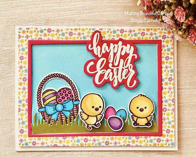 Sunny Studio Stamps: Chickie Baby Customer Card by Sheyla Corredig