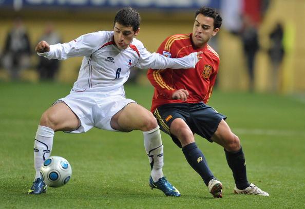 España y Chile en partido amistoso, 19 de noviembre de 2008