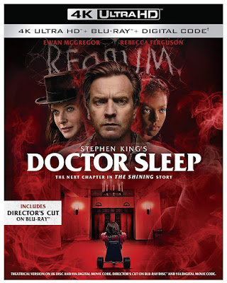 Cover art for the 4K UHD release of Mike Flanagan's DOCTOR SLEEP.