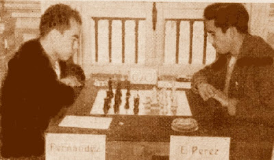 Partida de ajedrez E. Pérez-Fernández, Santander 1961