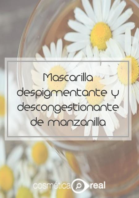 mascarilla despigmentante y descongestionante de manzanilla