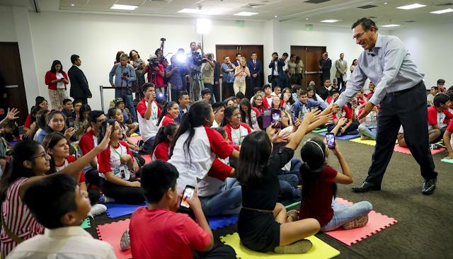 El presidente de la república, Martín Vizcarra, envió saludo por el Día del Niño