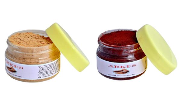 Arkes Pure Natural White & Red Sandalwood Powder (50 g)