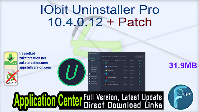 IObit Uninstaller Pro 10.4.0.12 + Patch