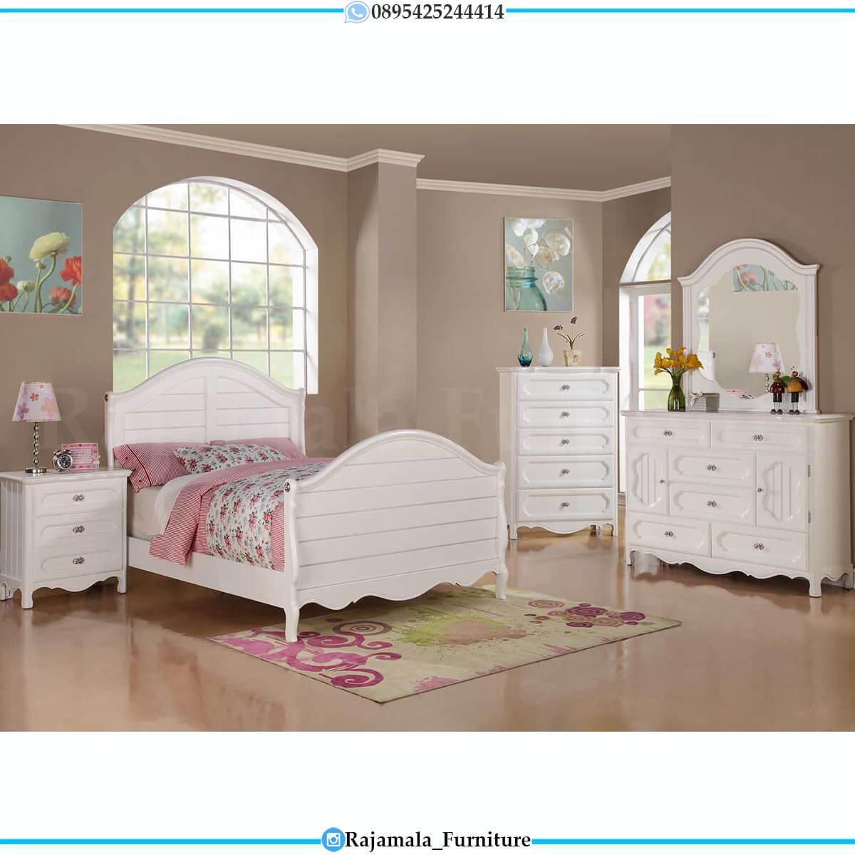 Harga Tempat Tidur Anak Putih Minimalis Desain Terjangkau RM-0632