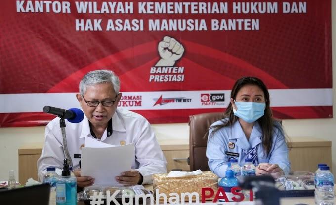 Natal 2020, Kanwil Kemenkum dan HAM Banten Serahkan RK kepada 324 Napi