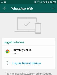 Cara menonaktifkan whatsapp web